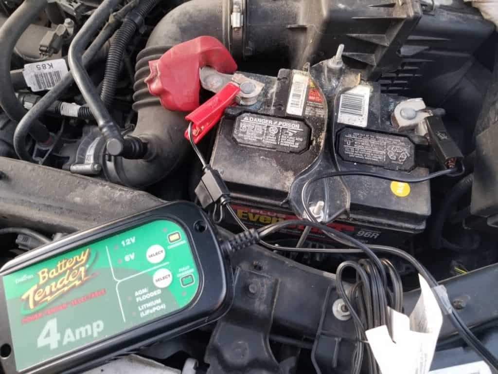 car battery with charger