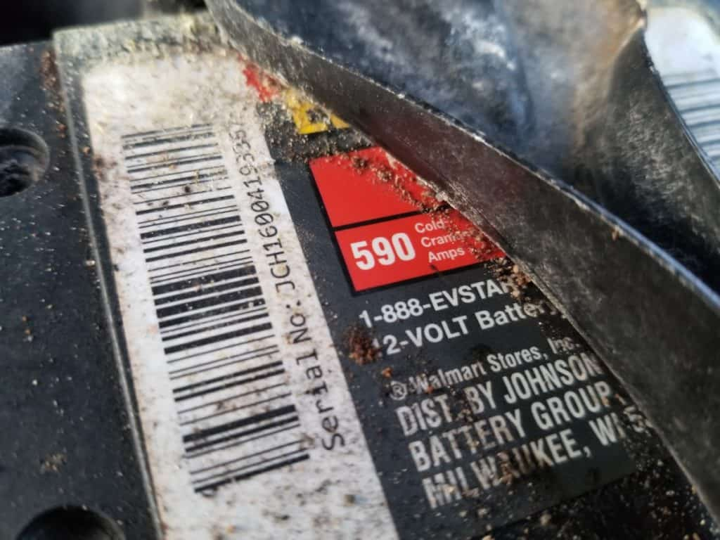 cold cranking amps on car battery sticker