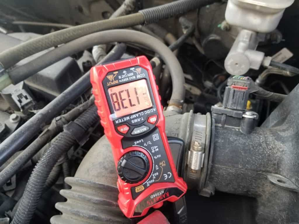 amps from the alternator at idle when battery was 40% drained